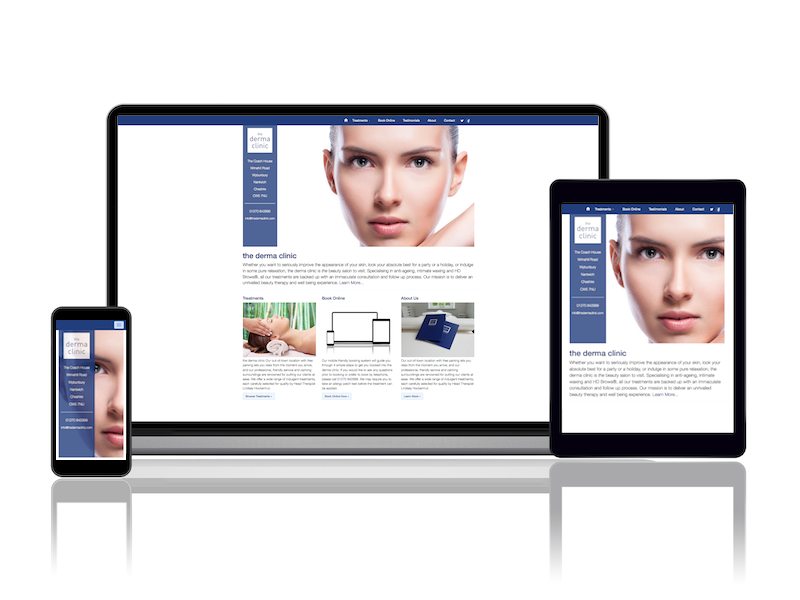 the derma clinic online booking system